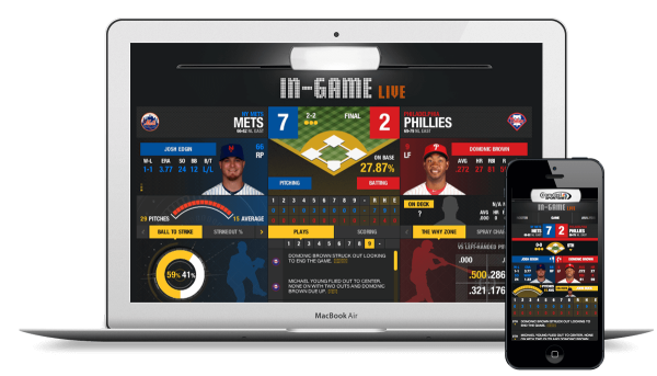 Second screen app: Baseball